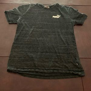 black and grey puma shirt